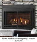 """Majestic Ruby Series MDVI35IL 35"""" Direct Vent Liquid Propane Fireplace Insert with IntelliFire Plus Ignition System (IPI+)  Up to 31 500 BTUs and RC200 Remote Control"""