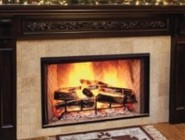 """Majestic SB100HB Biltmore 50"""" Radiant Wood Burning Fireplace with 1 650 sq. in. Viewing Area  Dual Gas Knockouts  and Full Refractory Firebox with Herringbone Molded Firebrick"""