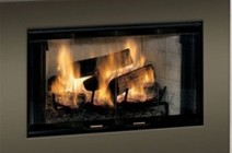 """Majestic BE Royalton 36"""" Radiant Wood Burning Fireplace with Full Refractory Firebox  Traditional brick interior  Ash Lip and Safey firescreen"""