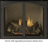 Majestic DD42CDFB 42 Inch Designer Fireplace Cabinet Door Frame - For 42 Inch VFH Gas Fireplaces and Universal VF Fireboxes  Black