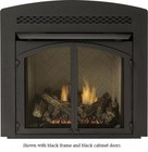 """Majestic VD36AFB 36"""" Designer Arched Front with Lower Control Door  Black"""
