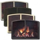 Majestic LX36FDDGT Firescreen Doors for LX36 Direct Vent Fireplaces  Gold Tone