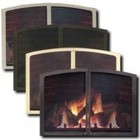 Majestic LX32FDDBP Fire Screen Doors for LX32 Direct Vent Fireplaces  Brushed Pewter