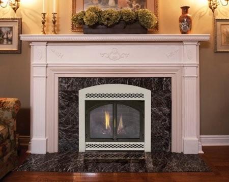 "Majestic 500DVBPSC7 42"" Direct Vent Liquid Propane Fireplace  with Flex Vent  Signature Command Control  Ceramic Fiber Logs  Large Ember Bed  and Aluminized Pan Burner"