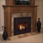"""Majestic 300DVBNSC7 33"""" Direct Vent Convertible Natural Gas Fireplace  with Flex Vent  Signature Command Control  Ceramic Fiber Logs  Large Ember Bed and Aluminized Pan Burner"""