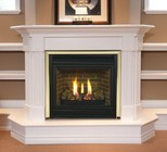 """Majestic CDVT42NSC7 42"""" Direct Top Vent Natural Gas Fireplace  with Signature Command Control  Ceramic Logs  Large Ember Bed and Aluminized Pan Burner"""