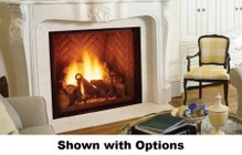 "Majestic Marquis KHLDV600NTSCSB 60"" Natural Gas Direct Vent Fireplace with Clean Face Design  Accent Light  Safety Barrier and Signature Command Ignition System"