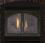 """Majestic 400DVBNVSL 36"""" Direct Vent Gas Fireplace Up to 24 000 BTUs with Ember Bed Burner with Fibre Ceramic Logs  Millivolt Ignition and Certified Safety Barrier"""