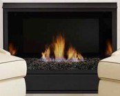 "Majestic VFF32CPI 32"" Salute Vent Free Fireplace System Liquid Propane IPI Control Up to 34 000 BTUs - Contemporary Style  CSA Design Certified"