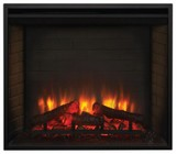 Majestic SFBI30E SimpliFire Built-In Traditional Electric Fireplace with Detailed Masonry-Style Interior and Textured Log Set Up to 4 800 BTUs  UL/ULC Listed