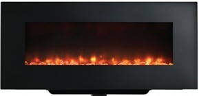 "Majestic SFWMS38BK 38"" SimpliFire Wall Mount Linear Electric Fireplace with Clean  Flat Face  and Fixed Glass  Up to 4 800 BTUs  14 Color LED Backlighting  UL/ULC Listed"