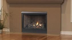 Majestic 36CFDVPV Patriot Direct Vent Liquid Propane Fireplace with Millivolt Ignition  21 000 BTU Capacity  Flush Face  Ember Bed Burner  1 100 sq. ft. Heat Range and Versatile Design
