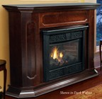 """Majestic CFX32PVU 32"""" Chesapeake Vent Free Liquid Propane Fireplace System with Deep Ember Bed  Glowing Logs  Random Yellow Flame and Fixed Safety Screen  in Unfinished Color"""