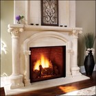 """Majestic KHLDV400PV 44"""" Top Vent Clean Face Direct Vent Fireplace  Propane Gas"""