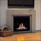 "Majestic 300DVBLNSC7 33"" Top Vent Clean Face Direct Vent Fireplace  Signature Command Control  Natural Gas"