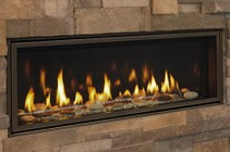 Majestic Echelon II ECHEL60IN Direct Vent Gas Fireplace with Bronze Glass  50 000 Max BTU  2150 Sq. Ft. Heating Capacity  IntelliFire Plus Wireless Control and LED Lights
