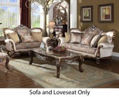 Meridian Sandro Collection 6032PCSTLKIT1 2-Piece Living Room Sets with Stationary Sofa  and Loveseat in Light Cherry