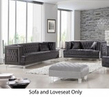 Meridian Lucas Collection 6092PCSTLKIT2 2-Piece Living Room Sets with Stationary Sofa  and Loveseat in Grey