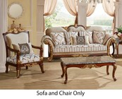 Meridian Camelia Collection 6512PCARMKIT1 2-Piece Living Room Sets with Stationary Sofa  and Living Room Chair in Beige