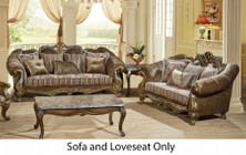 Meridian Stefania Collection 6562PCSTLKIT1 2-Piece Living Room Sets with Stationary Sofa  and Loveseat in Brown