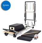 MERRITHEW ST01081 SPX Max Plus Reformer Bundle: SPX Max Plus Reformer  Mat Converter  Reformer Box with Footstrap  Padded Platform Extender  Maple Roll-Up Pole  and 2 Exercise DVDs