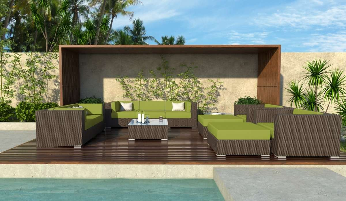 Meldecco Madison 11 Piece Outdoor Rattan Patio Sectional