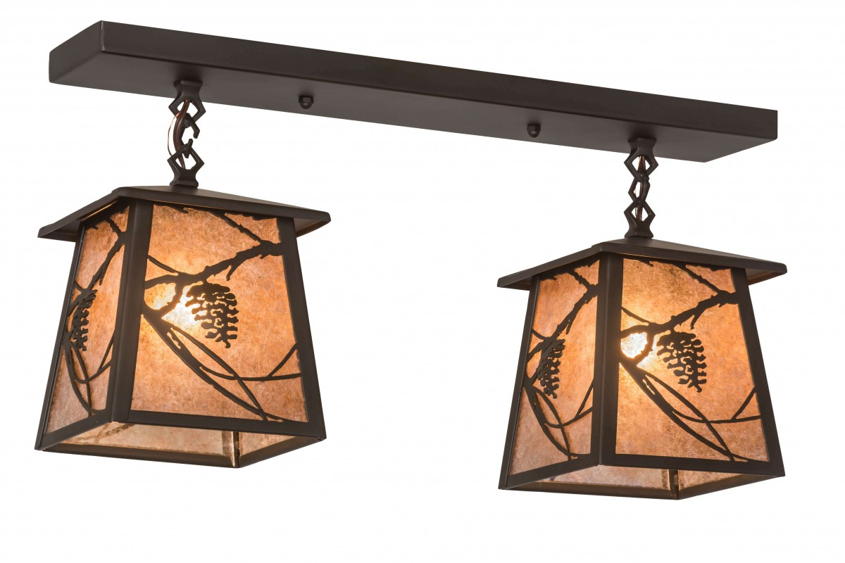Buy Feiss Clayton 4 Light Bath Vanity Fixture In Oil: Meyda Lighting Whispering Pines Oil Rubbed Bronze & Silver
