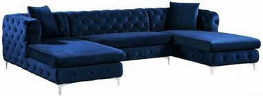 Meridian Gail Collection 664Navy-Sectional 127
