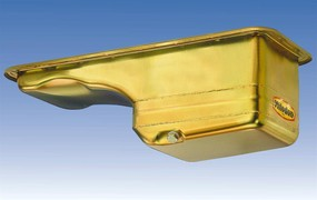 Milodon 31060 Steel Gold Zinc Plated Street and Strip Oil Pan for Nova 1962-67