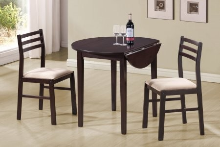 Monarch 2 Piece Drop Leaf Dinette Set In Cappuccino