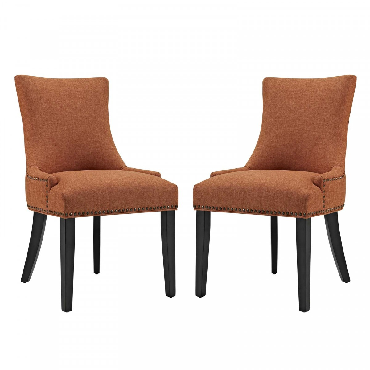 Modway Marquis Orange Fabric Dining Side Chair