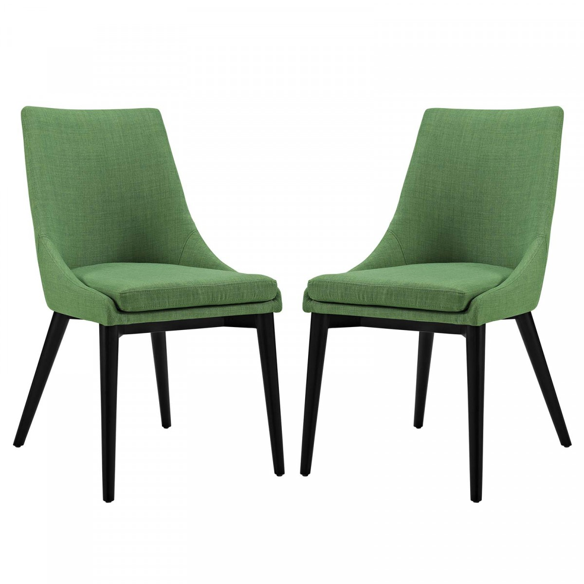 Modway Viscount Kelly Green Fabric Dining Side Chair