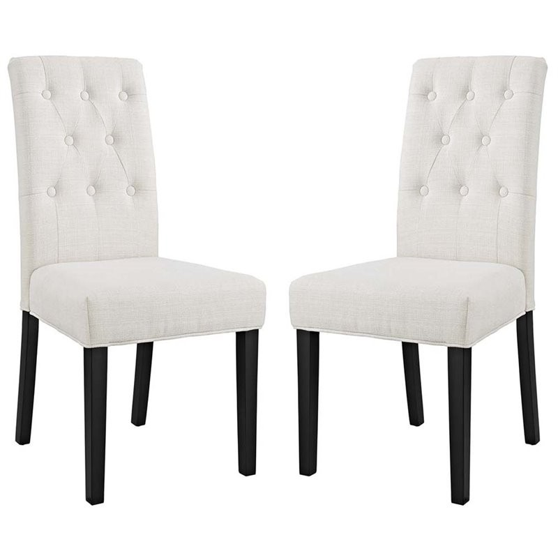 Modway Confer Beige Fabric Dining Side Chair