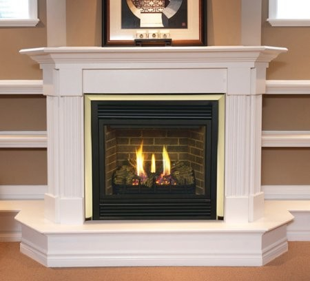 """Majestic CDVT47PSC7 47"""" Direct Top Vent Propane Gas Fireplace with Signature Command Control  Aluminized Pan Burner  Ceramic Fiber Logs and Large Ember Bed"""