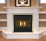 """Majestic CDVT42PSC7 42"""" Direct Top Vent Liquid Propane Fireplace  with Signature Command Control  Ceramic Logs  Large Ember Bed and Aluminized Pan Burner"""