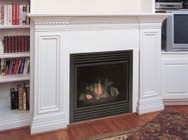 """Majestic CDVT36NSC7 36"""" Direct Top Vent Natural Gas Fireplace with Signature Command Control  Aluminized Pan Burner  Ceramic Fiber Logs and Large Ember Bed"""