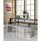Modway EEI-867 Gridiron Benches Set of 3 in Silver Color