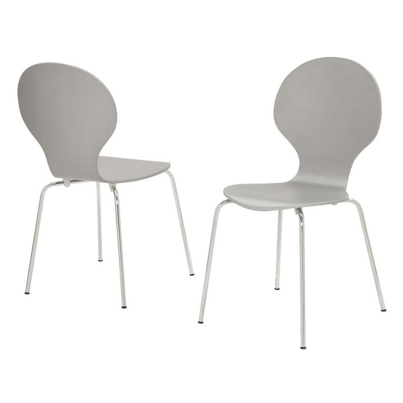 Discount Dining Chairs Set Of 4: Monarch Dining Chair In Gray (Set Of 4)