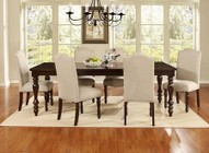 Myco Furniture Palisades Collection 7 PC Dining Room Set with Dining Table + 6 Side Chairs in Espresso Finish