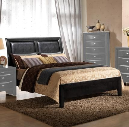 Myco Furniture Emily Collection King Size Sleigh Bed With Faux