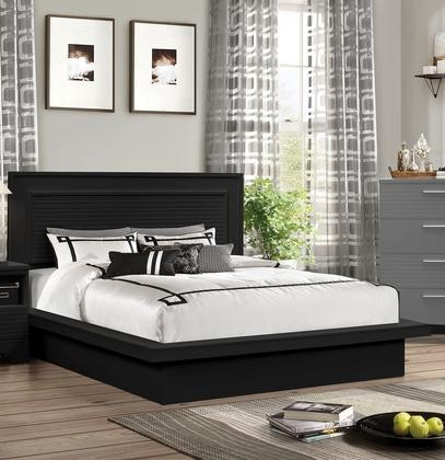 Myco Furniture Moderno Queen Bed Black Md4338 Q