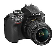 Nikon D3400 24.2 MP SLR - Black - AF-P DX 18-55mm VR Lens