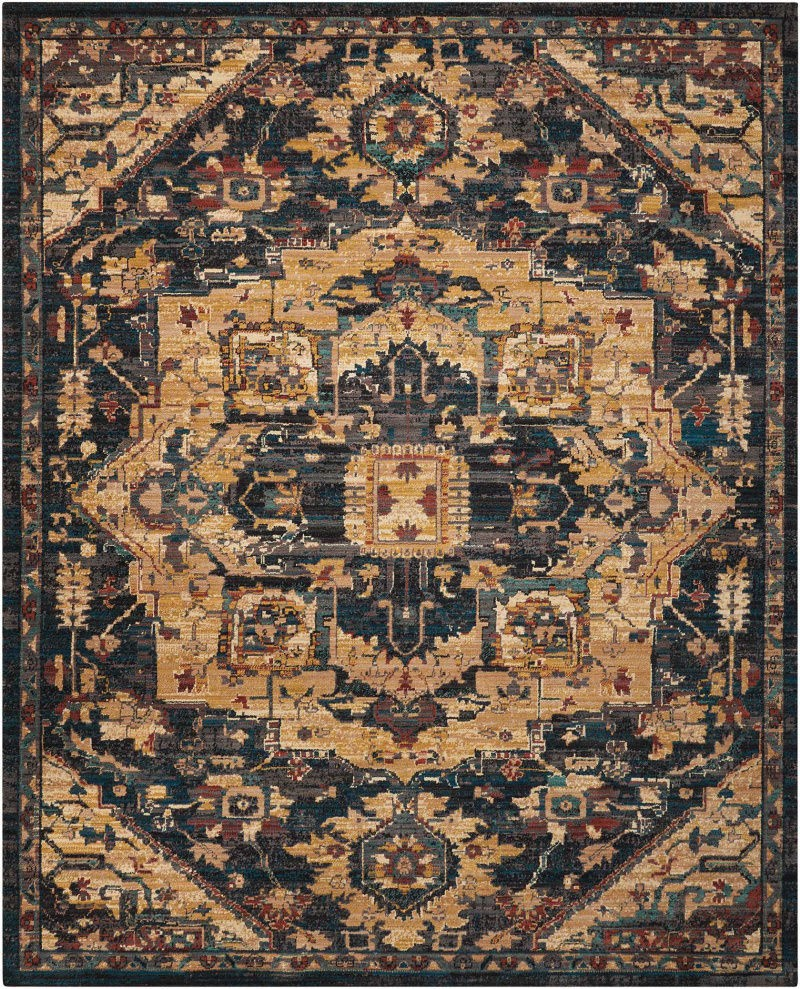 Discount 8x11 Area Rugs: Nourison 2020 Nr206 Midnight 4' X 6' Area Rug