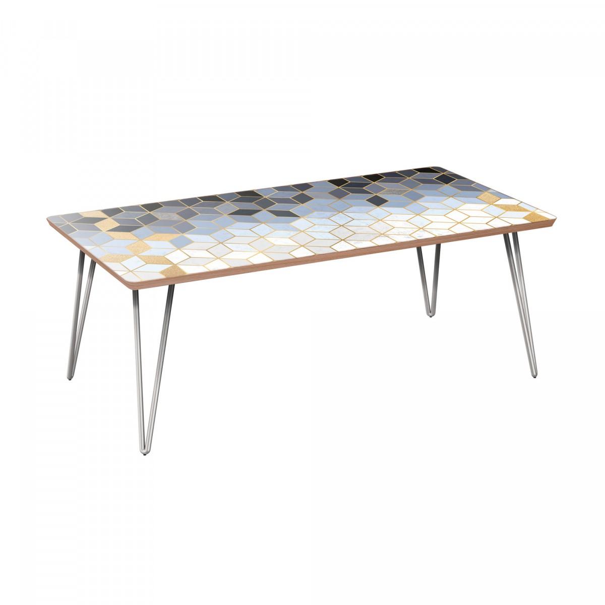 Deco Chrome Coffee Table: Nye Koncept Brixton Midnight Gold Deco Walnut Hairpin