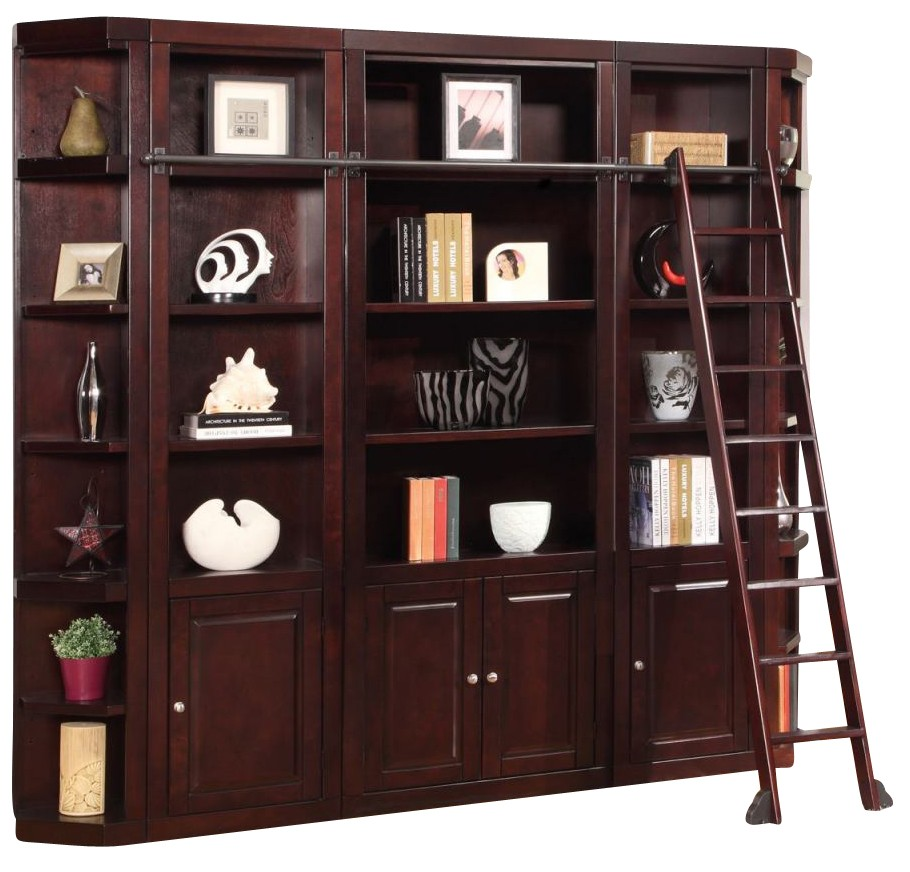 Parker House Boston 6 Piece Library Entertainment Wall
