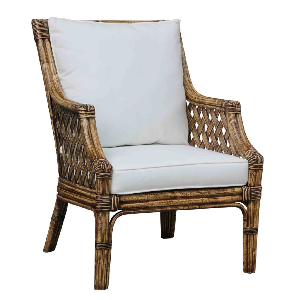 Panama Jack Old Havana Lounge Chair With Cushions In Honey
