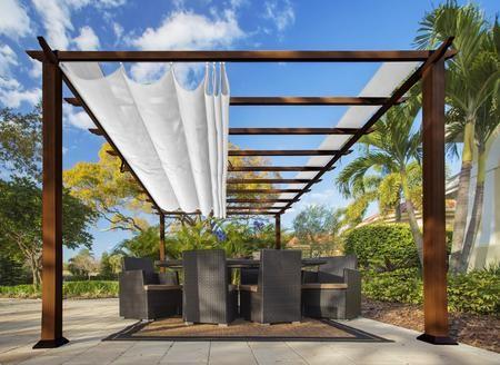 pergola aluminum, paragon outdoor florence pr16wd2w 11' x 16' aluminum pergola with, Design ideen