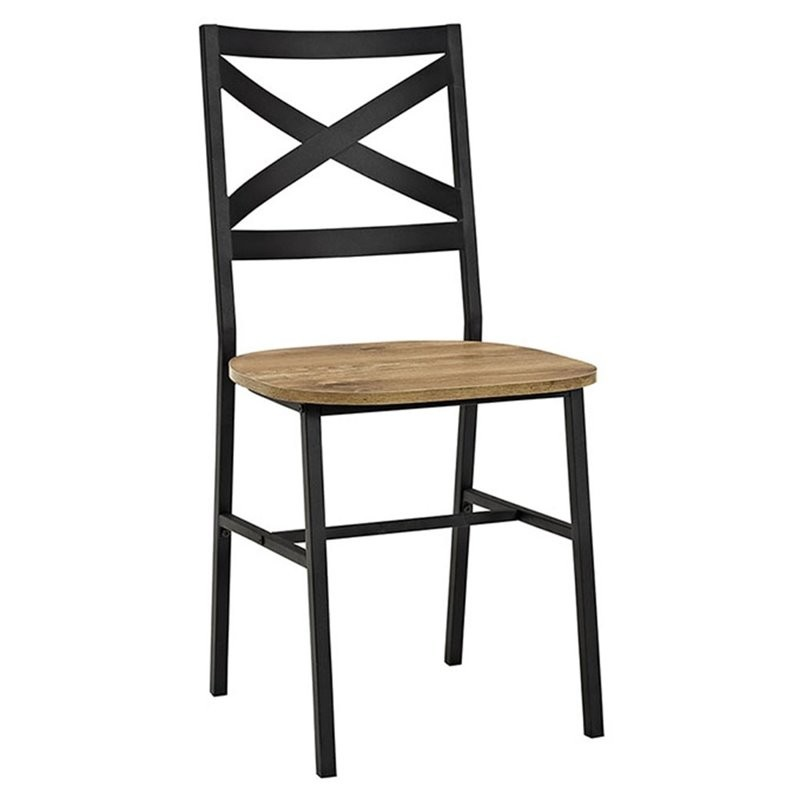 Pemberly Row X Back Dining Chair In Barnwood (Set Of 2