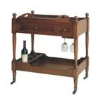 Pemberly Row Serving Cart in Brown