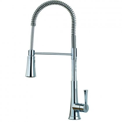 Pfister F 529 9MDC Mystique Single Handle 1 Or 3 Hole Commercial Style  Spring Pull Down Sprayer Kitchen Faucet ...